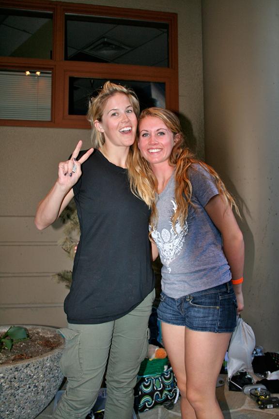 Sarah Burke and Camper
